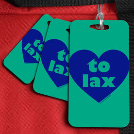 Lacrosse Bag/Luggage Tag Heart to Lax