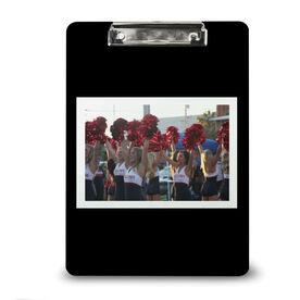 Cheerleading Custom Clipboard Cheer Your Photo Solid Background