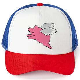 Running Trucker Hat - Flying Pig