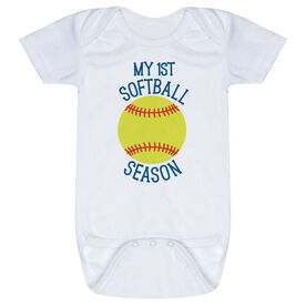 Softball Baby One-Piece - My First Softball Season