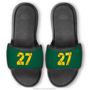 Softball Repwell® Sandal Straps - Softball Number Stitches
