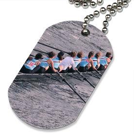 Custom Crew Photo Printed Dog Tag Necklace