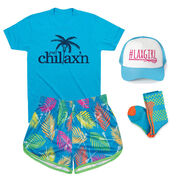 Tropical Palm Girls Lacrosse Outfit