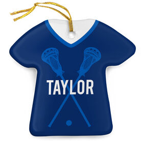 Guys Lacrosse Porcelain Ornament That's My Jersey