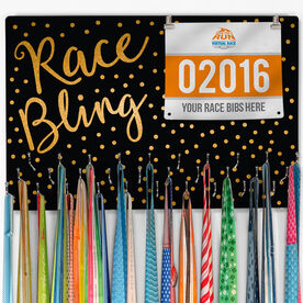 Running Large Hooked on Medals and Bib Hanger - Race Bling