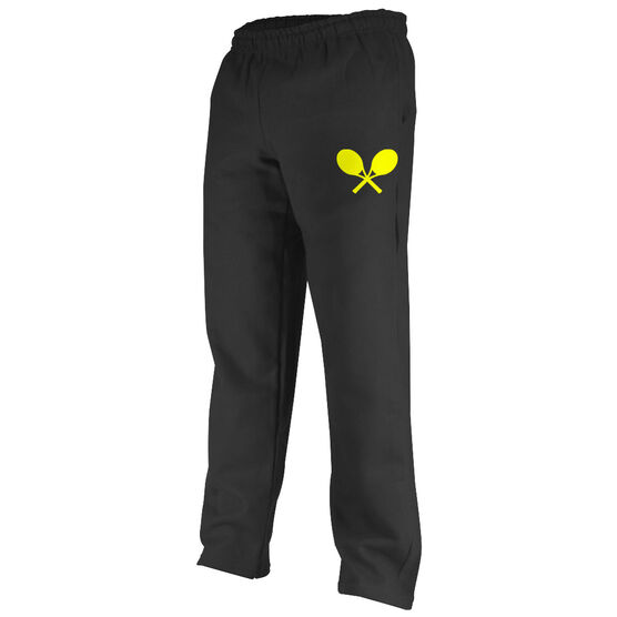Tennis Fleece Sweatpants Crossed Tennis Rackets