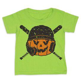 Baseball Toddler Short Sleeve Tee - Helmet Pumpkin
