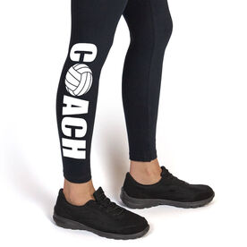Volleyball Leggings Coach with Volleyball