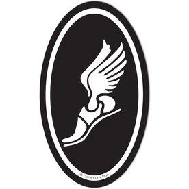 Winged Foot Car Magnet - Black