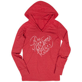 Women's Running Lightweight Performance Hoodie - One Awesome Mother Runner
