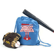 Baseball Sport Pack Cinch Sack - Baseball's My Favorite