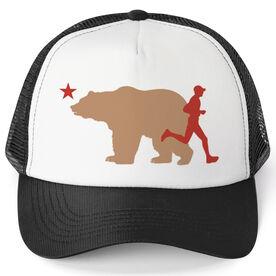 Running Trucker Hat - California Flag Male Runner