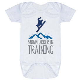 Snowboarding Baby One-Piece - Snowboarder In Training