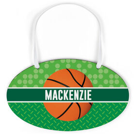 Basketball Oval Sign - Personalized 2 Tier Patterns with Basketball