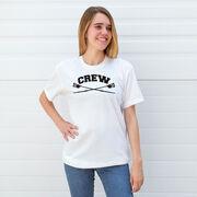 Crew Tshirt Short Sleeve Crew Crossed Oars Banner