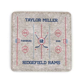 Hockey Stone Coaster - Personalized Team