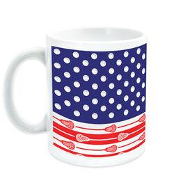 Guys Lacrosse Coffee Mug USA Flag