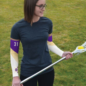 Arm Sleeves - Oconomowoc Lacrosse Logo with Stripes