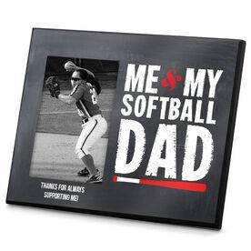 Softball Photo Frame Me & My Softball Dad