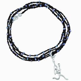 Girls Lacrosse Beaded Wrap Bracelet - Lacrosse Girl