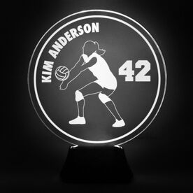 Volleyball Acrylic LED Lamp Volleyball Girl With Name and Number