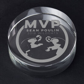 Wrestling Personalized Engraved Crystal Gift - MVP Award