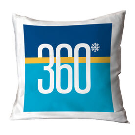 Skiing and Snowboarding Throw Pillow - Degree Turns