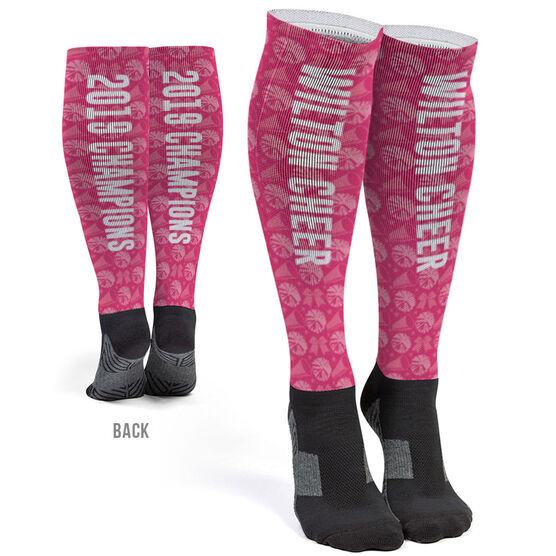 Cheerleading Printed Knee-High Socks - Cheer Team Name