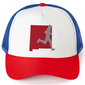 Running Trucker Hat - New Mexico Male Runner