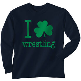 Wrestling Tshirt Long Sleeve I Shamrock Wrestling