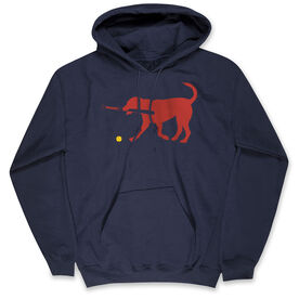 Softball Hooded Sweatshirt - Softballs for Dog With Bat