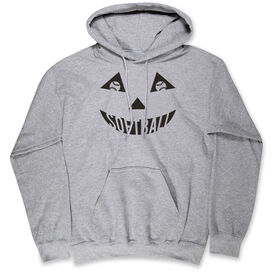 Softball Hooded Sweatshirt - Softball Pumpkin Face