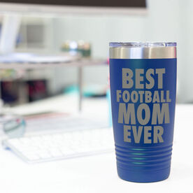 Football 20 oz. Double Insulated Tumbler - Best Mom Ever