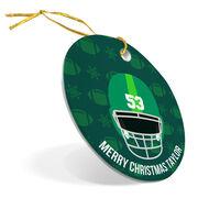 Football Porcelain Ornament Personalized Football Helmet