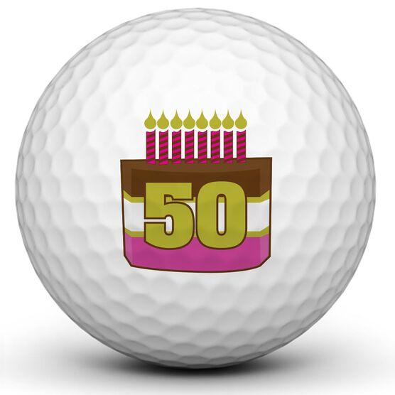 Happy Birthday Cake Golf Balls