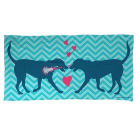 Lacrosse Beach Towel Lax Dog Love