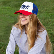 Hockey Trucker Hat Love with Stick