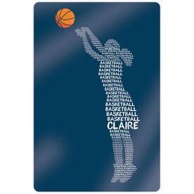 "Basketball 18"" X 12"" Aluminum Room Sign - Personalized Words Girl"