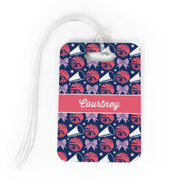 Cheerleading Bag/Luggage Tag - Personalized Megaphone Pattern