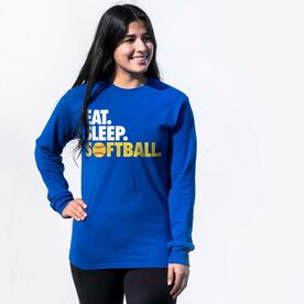 Softball Tshirt Long Sleeve - Eat. Sleep. Softball
