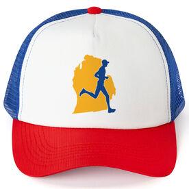 Running Trucker Hat - Michigan Male Runner