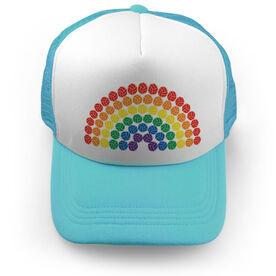 Volleyball Trucker Hat - Rainbow