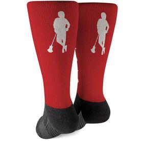 Guys Lacrosse Printed Mid-Calf Socks - Chillax'n
