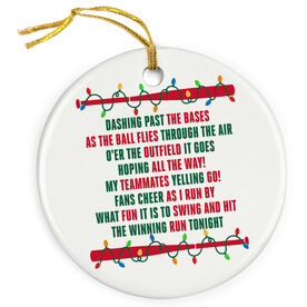 Softball Porcelain Ornament Jingle All The Way