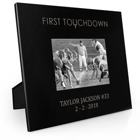 Football Engraved Picture Frame - First Touchdown