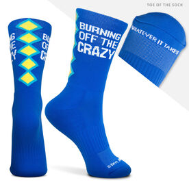 Socrates® Mid-Calf Performance Socks - Burning Off The Crazy