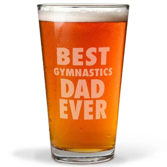 16 oz. Beer Pint Glass Best Gymnastics Dad Ever