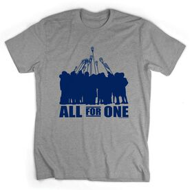 Guys Lacrosse Short Sleeve T-Shirt - All for One (Blue)