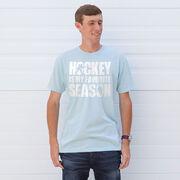 Hockey Short Sleeve T-Shirt - Hockey Is My Favorite Season