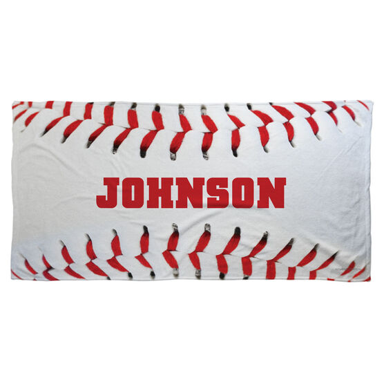 Baseball Beach Towel Personalized Stitches
